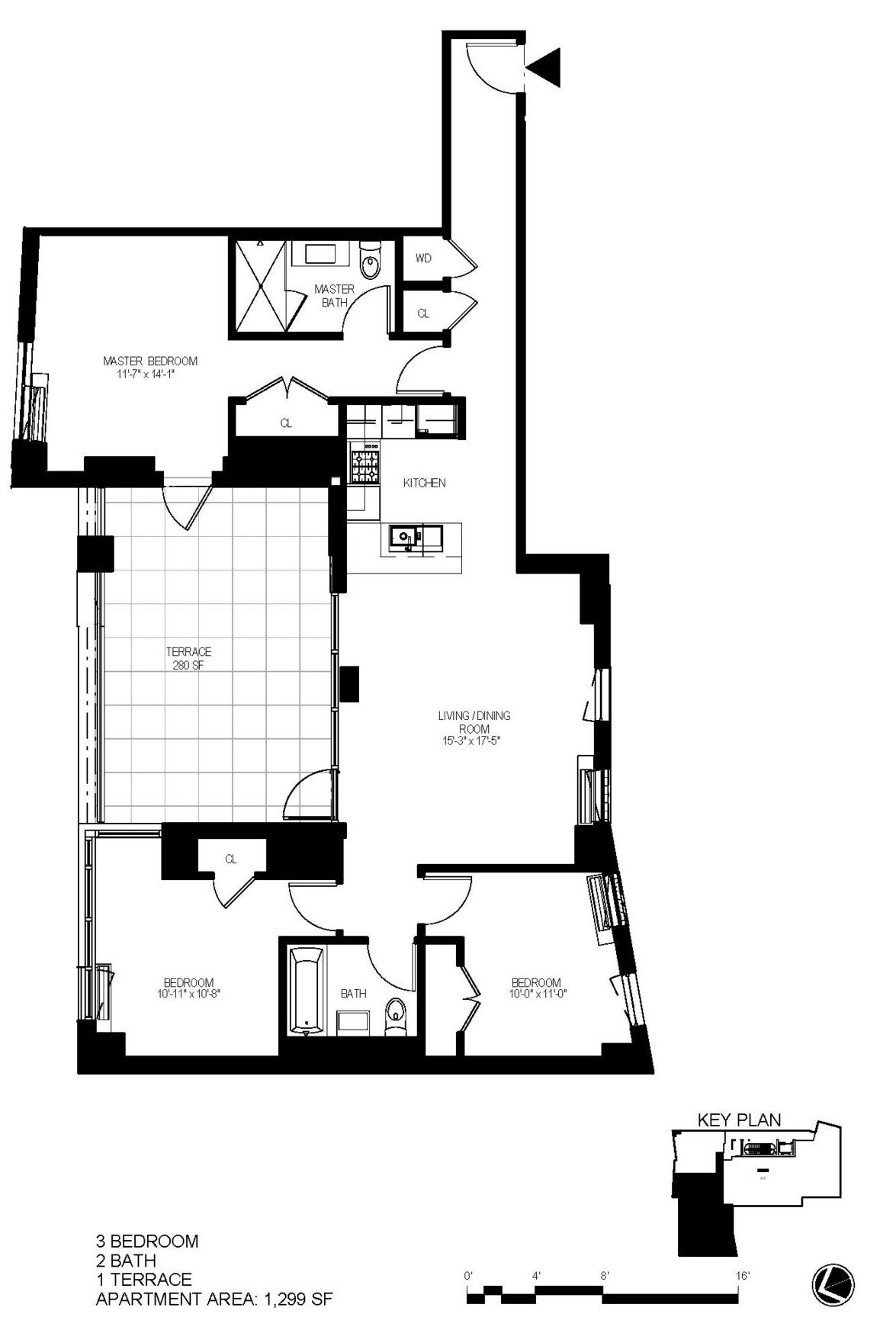 "Apartment ""F"" Line (Fifth Floor Location)"