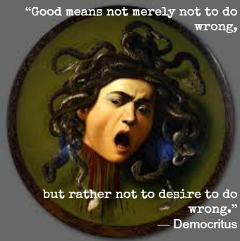 Democritus and Caravaggio with Hypnotherapist in Central London Image.