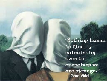 Gore Vidal and Rene Magritte with Hypnotherapy in London Image