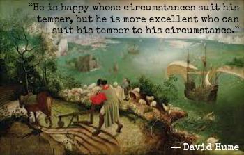 David Hume and Bruegel the elder