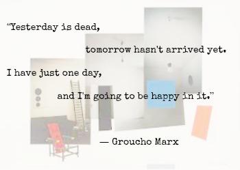 Groucho Marx and Richard Hamilton