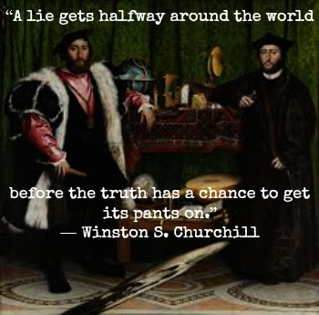 Winston Churchill and Hans Holbein