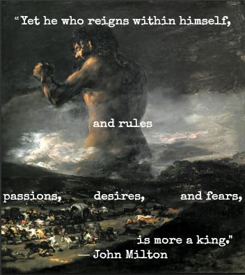 John Milton and Goya with Hypnotherapist in Central London Image