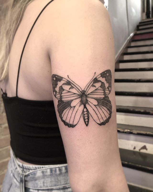 #mtltattoo #tattoo #tattoos #tattoodo #tattoosnob #canadatattoo #ladytattooers #botanicaltattoo #butterflytattoo #ink #inkedgirls