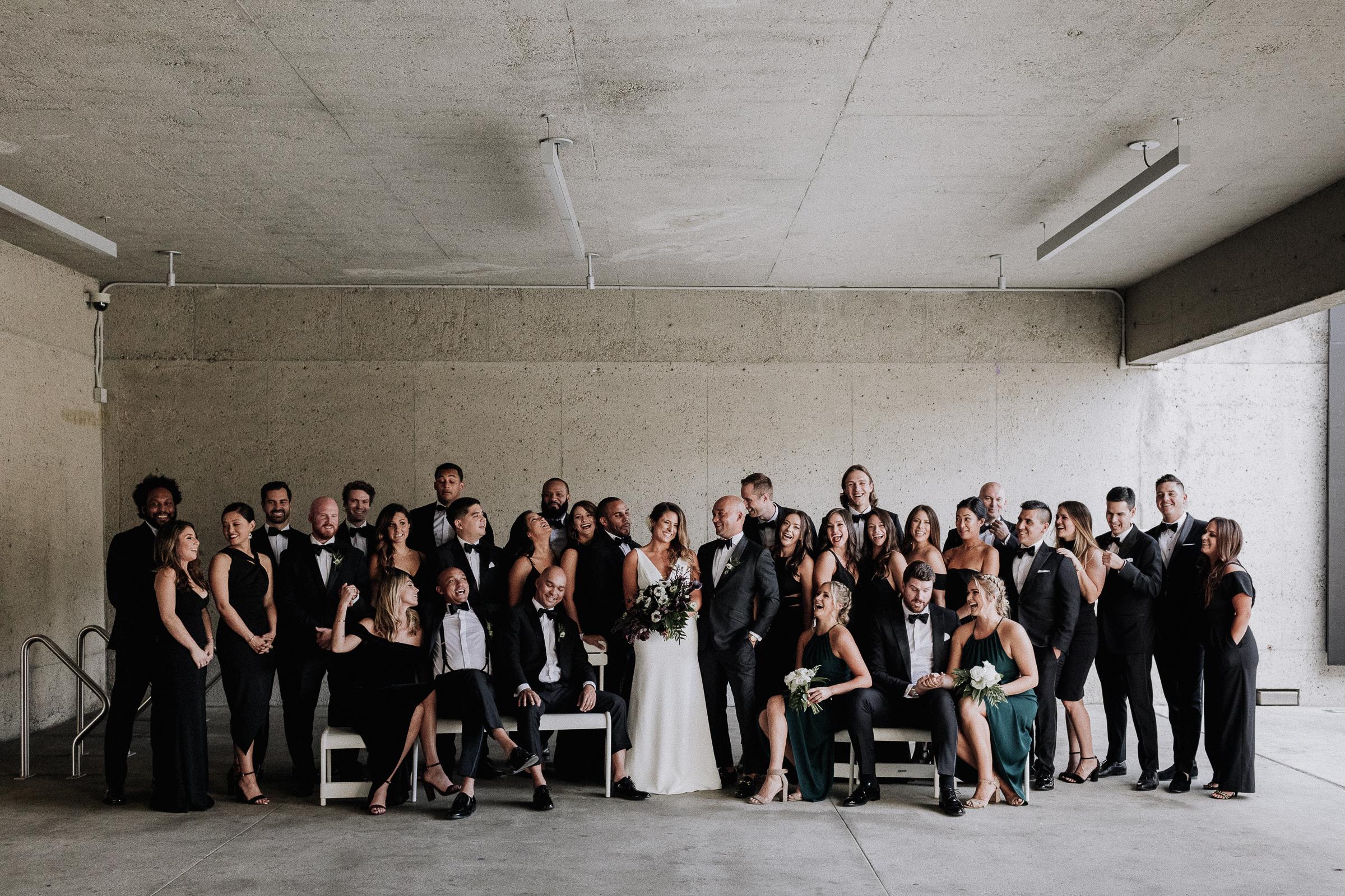 Oakland Museum of California Wedding #fallwedding #modernwedding #minimalswedding #BayAreaWeddingPhotographer #weddingprep #weddingday #firstlook #weddingparty