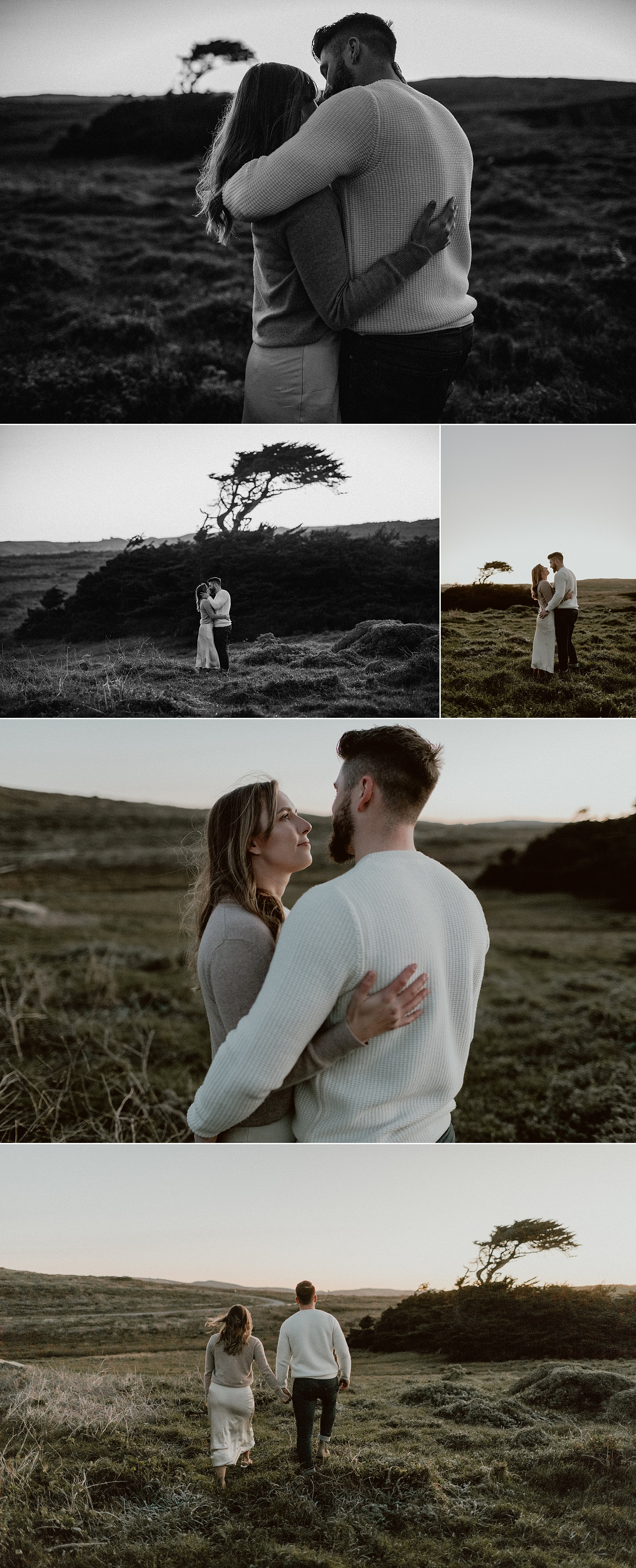 Bodega Headlands Sunrise Engagement Shoot | Gretchen Gause Photography #BodegaBay #EngagementSession #SunriseSession #SanFranciscoEngagementPhotographer #BayAreaWeddingPhotographer #DestinationWedding #RealCouple