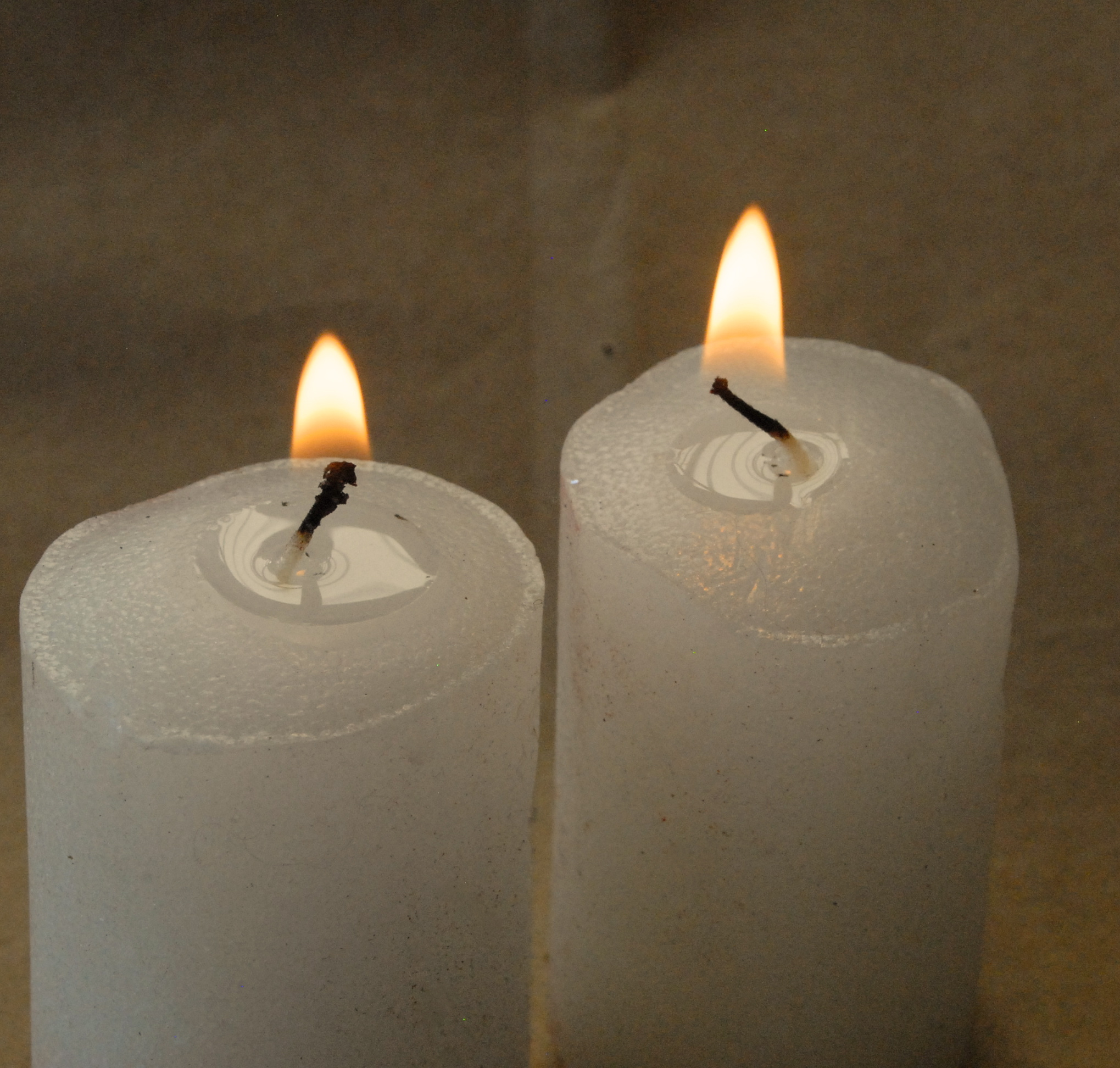 Votive candles for luminarias