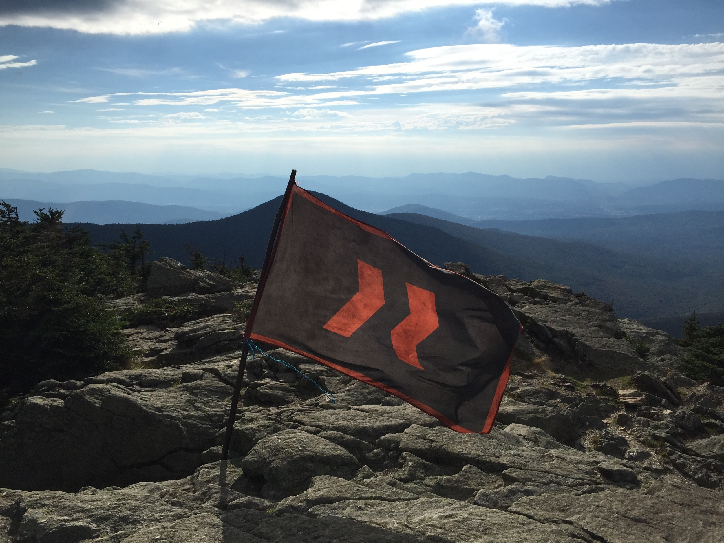 We had to do it.  Kendall, Andrew and I placed our team flag atop K-1.