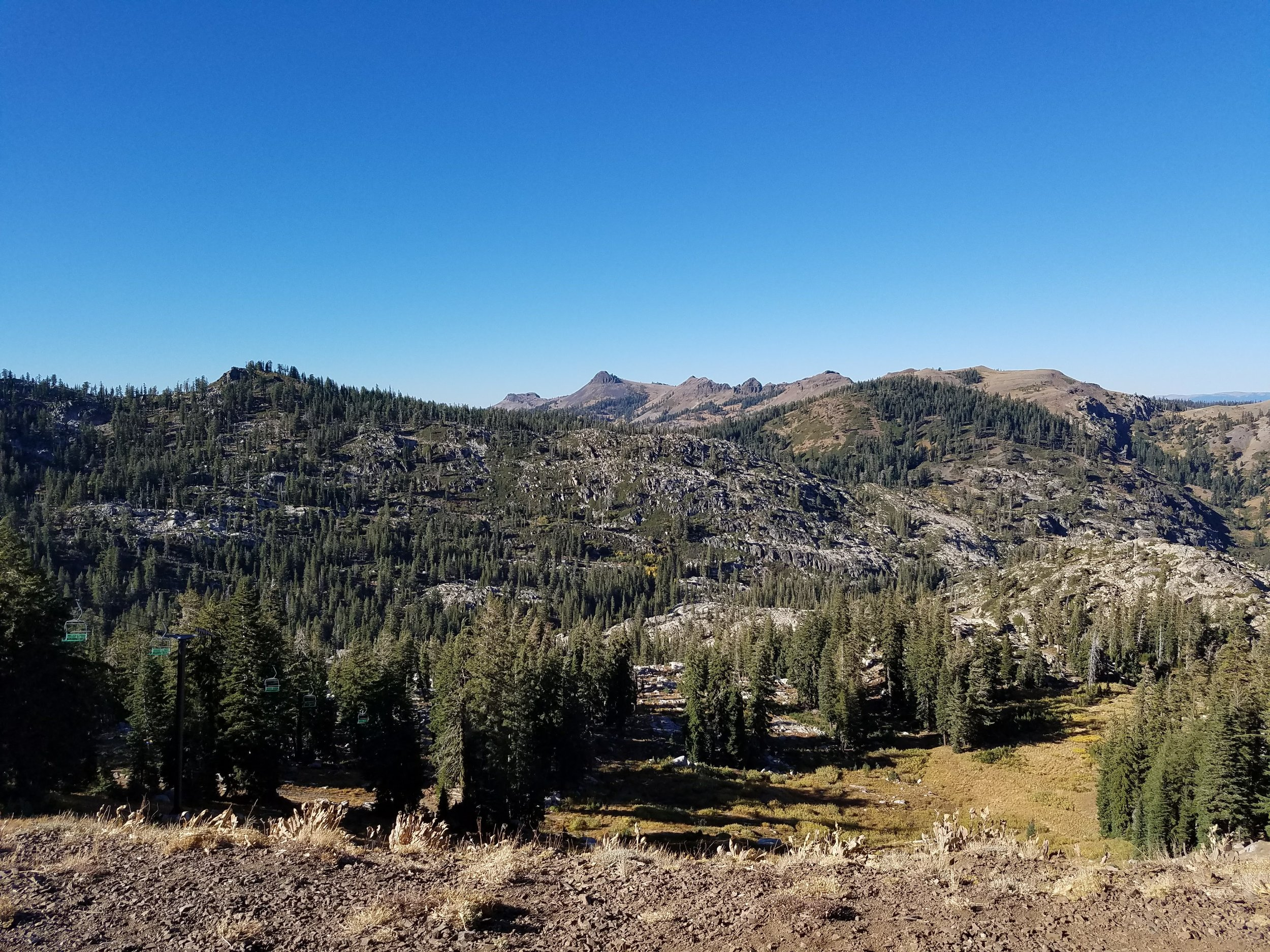 The beautiful, open terrain of Tahoe. The elevation and cold are your big challenges here.