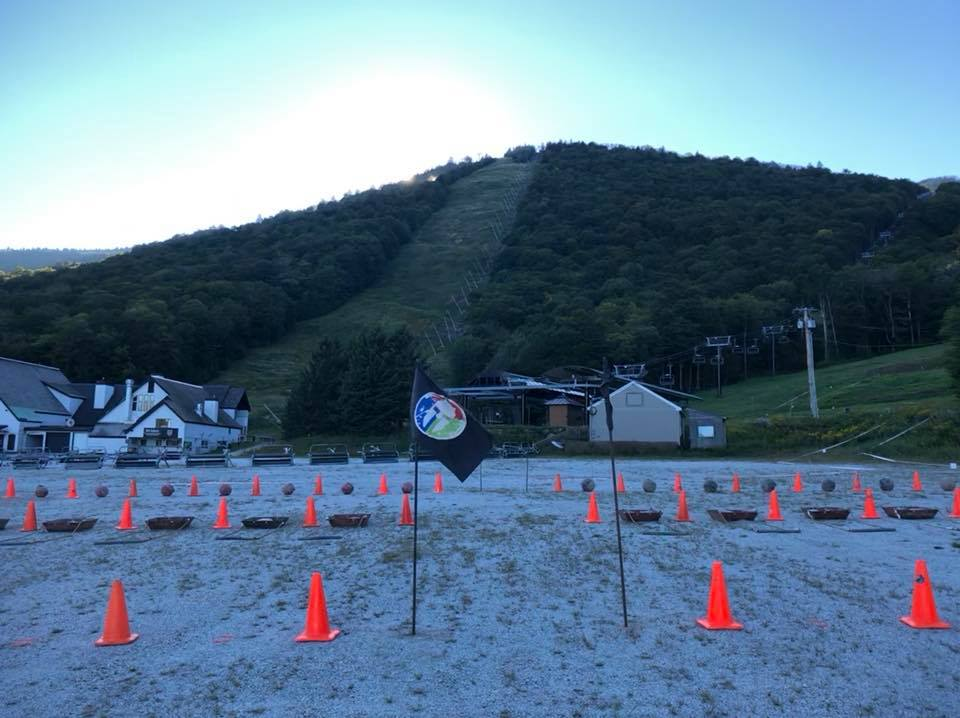 The atlas/sled hybrid obstacle at the bottom of the ultra loop. Photo credit Toshimi Haraguni