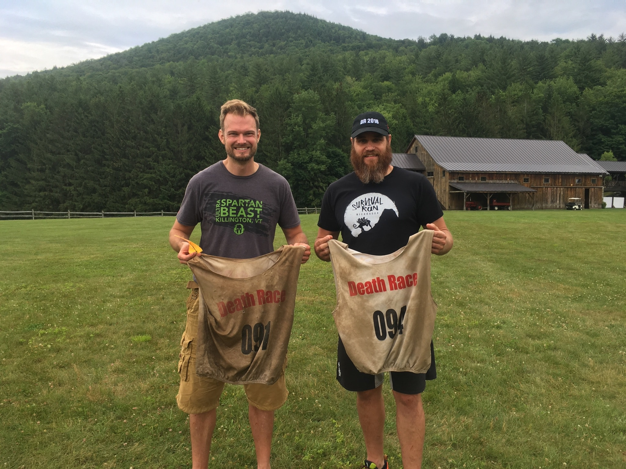 Matt and I with our 2018 bibs