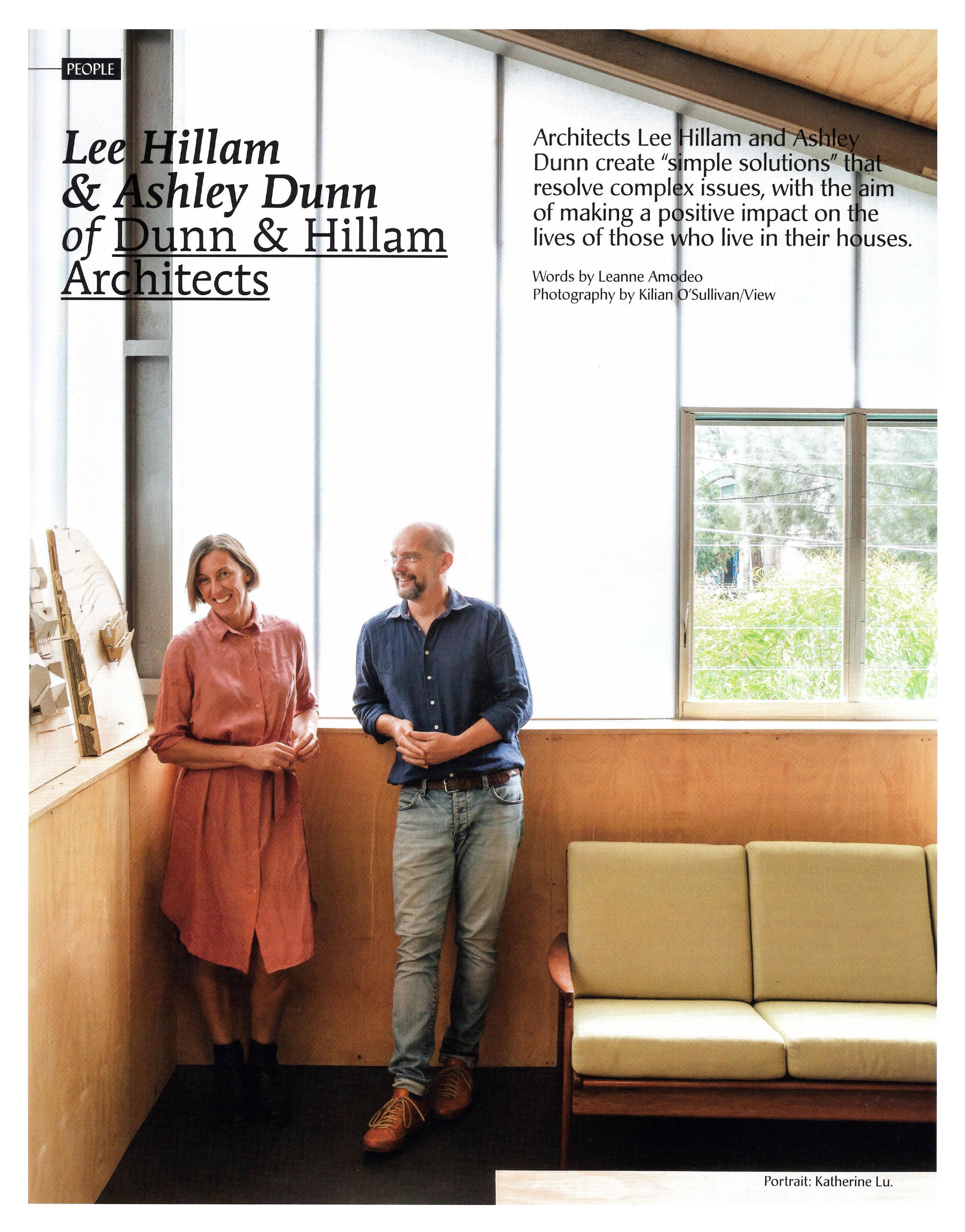 Houses Magazine - Lee Hillam & Ashley Dunn