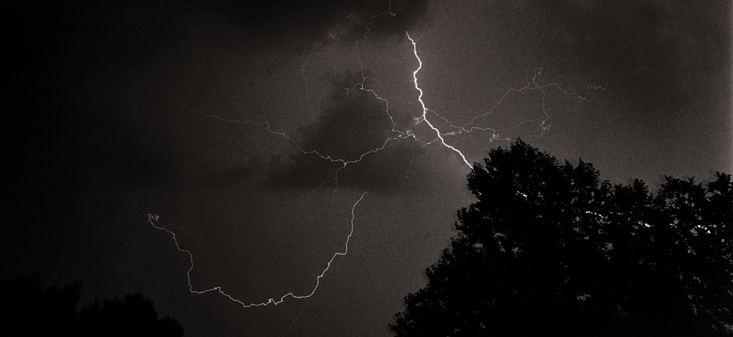 Lightning Storm , Billboard, 16th and S Van Ness