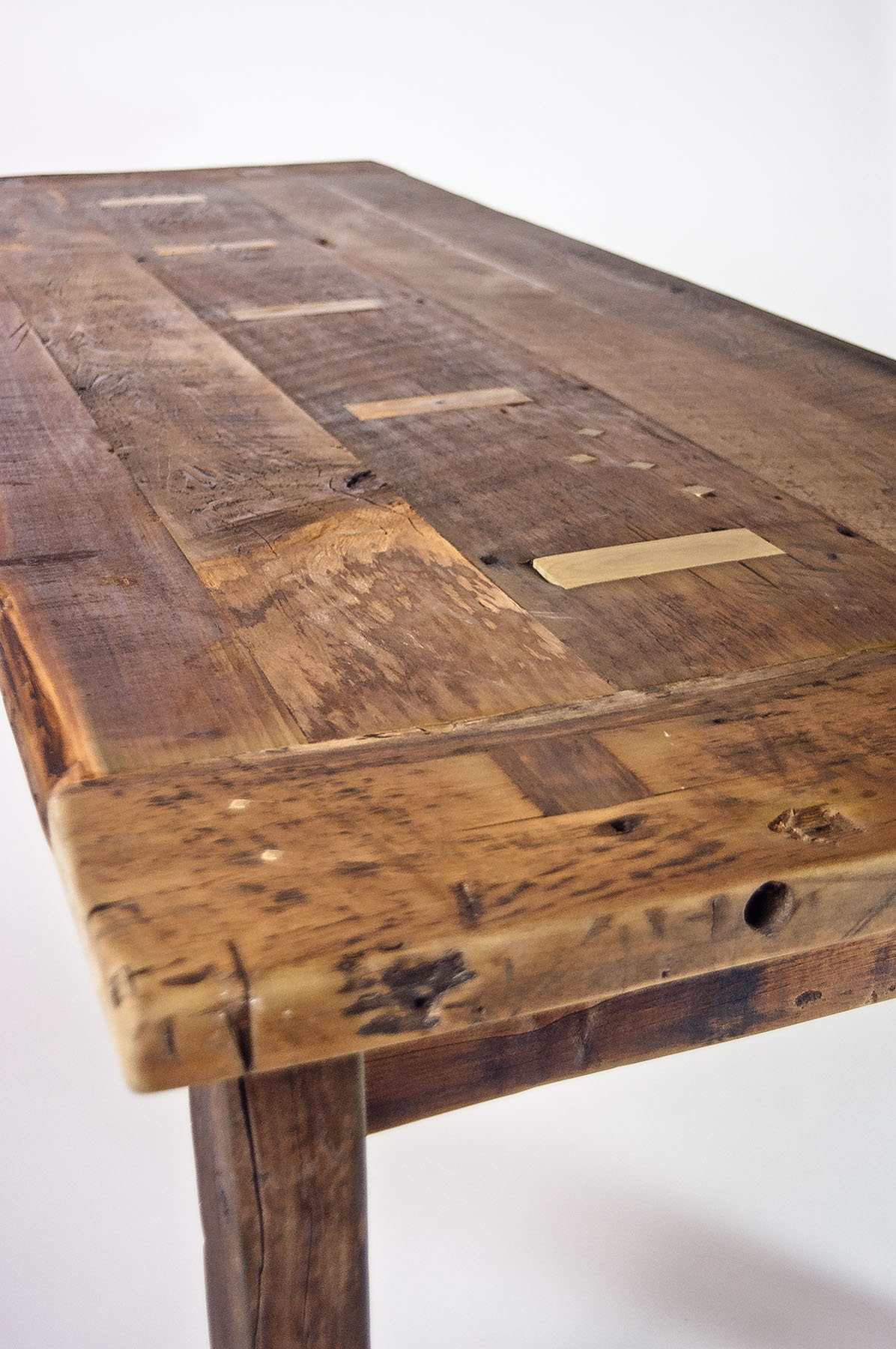 Reclaimed Poplar Farm Table
