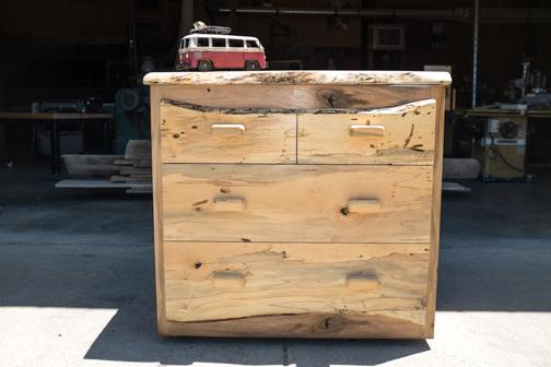 Custom Live Edge Dresser