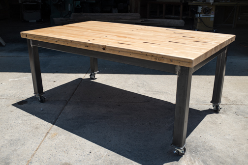 Bowling Alley Table on Casters