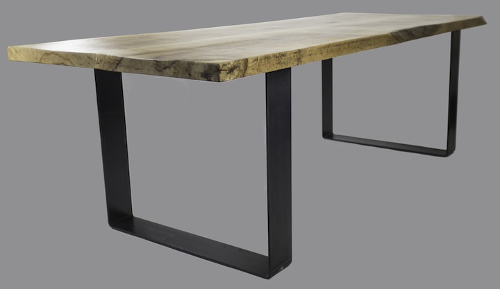 Live Edge Table With Raw Steel Legs