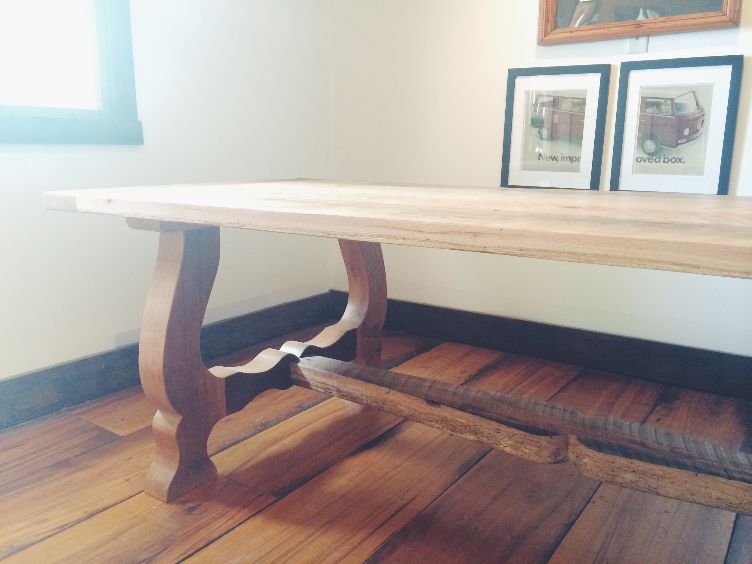 Oak Harp Table