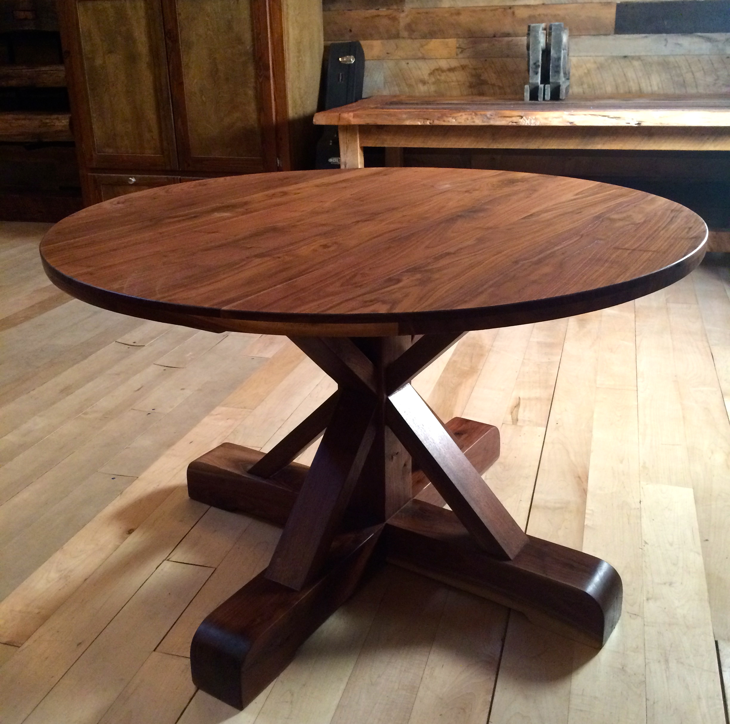 Walnut Pedestal Table