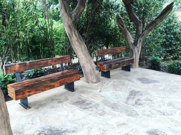 Heart Pine Benches at the Nashville Zoo