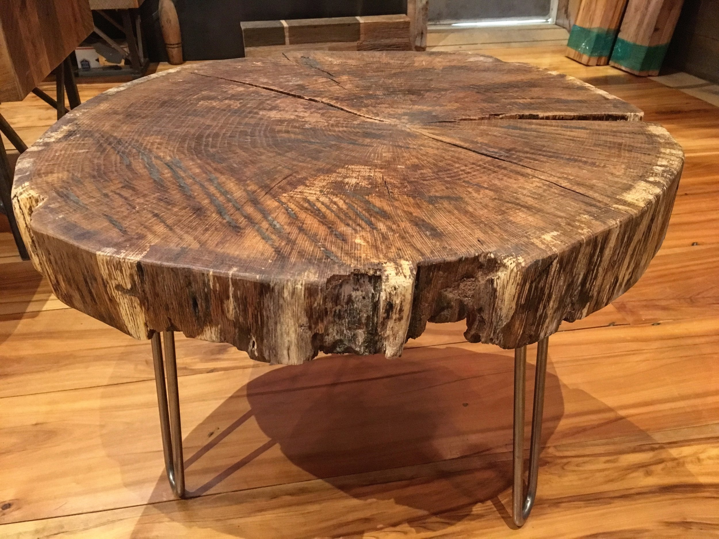 Live Edge Round Coffee Table