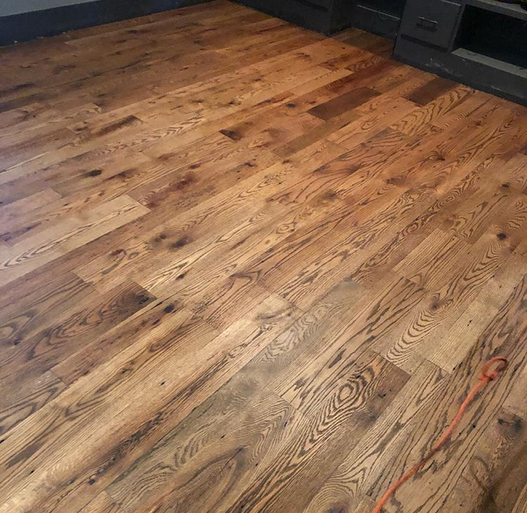 Clean Red Oak Flooring