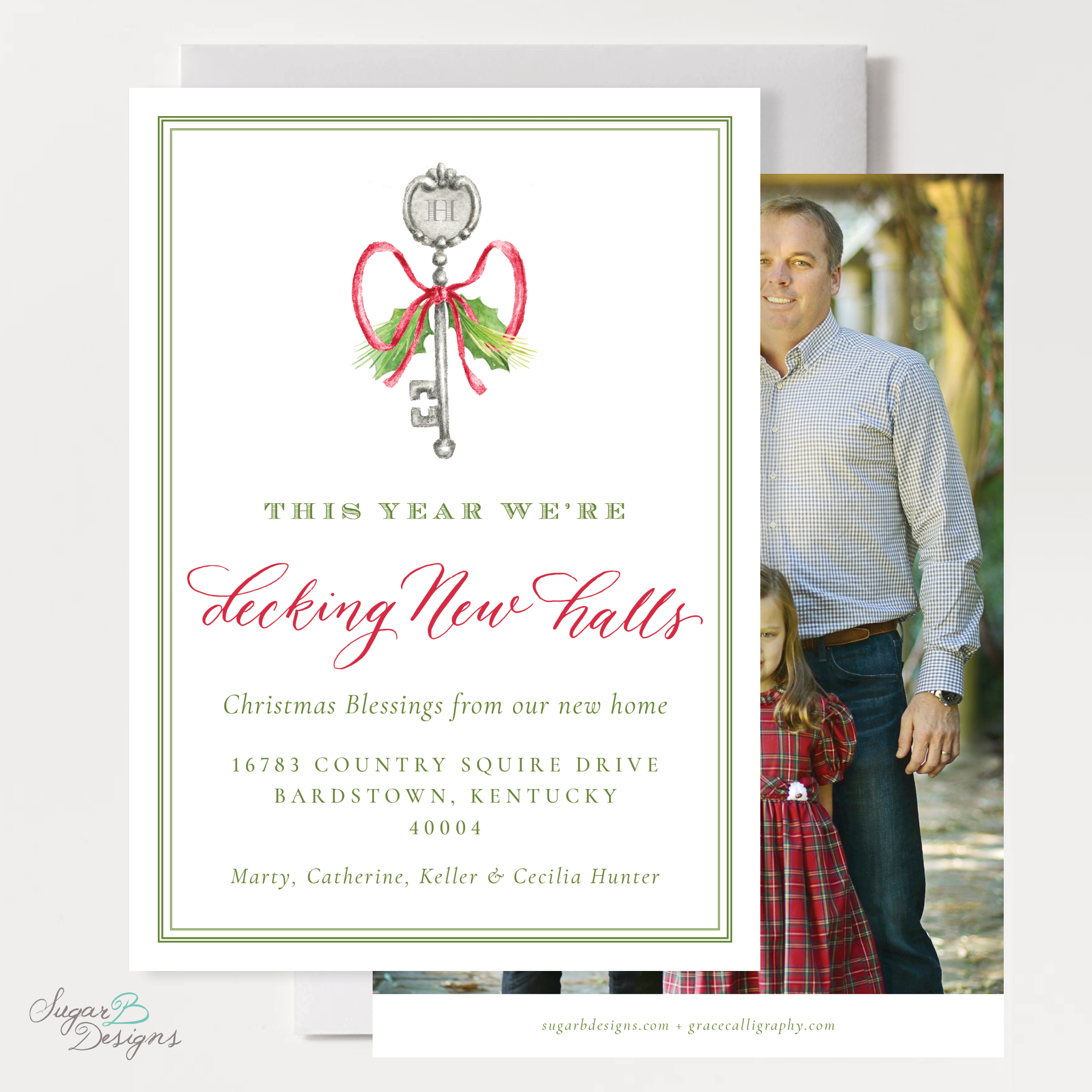 Potter Key Moving Christmas Card front and back by Sugar B Designs.png