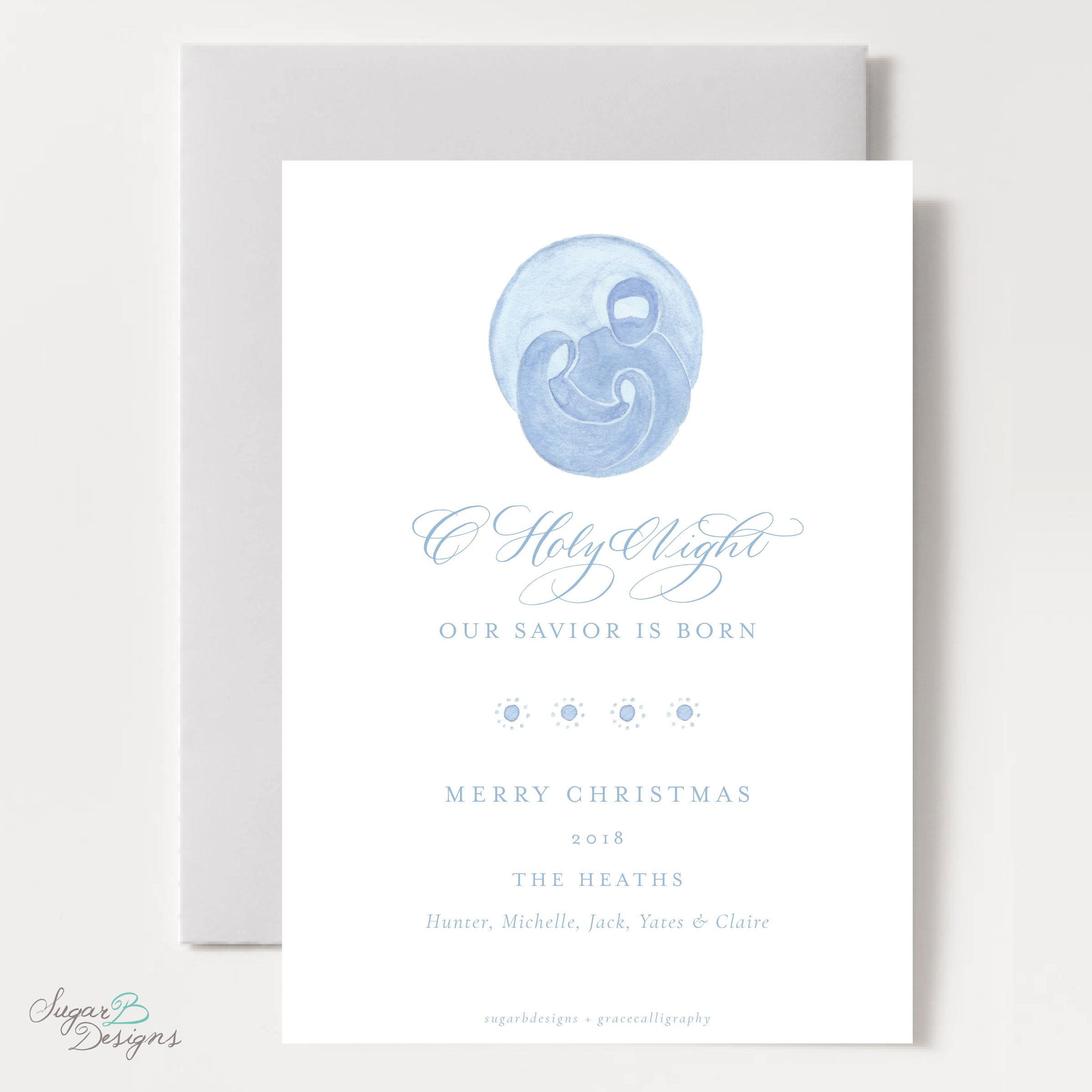 The Newborn King Christmas Card back by Sugar B Designs.png