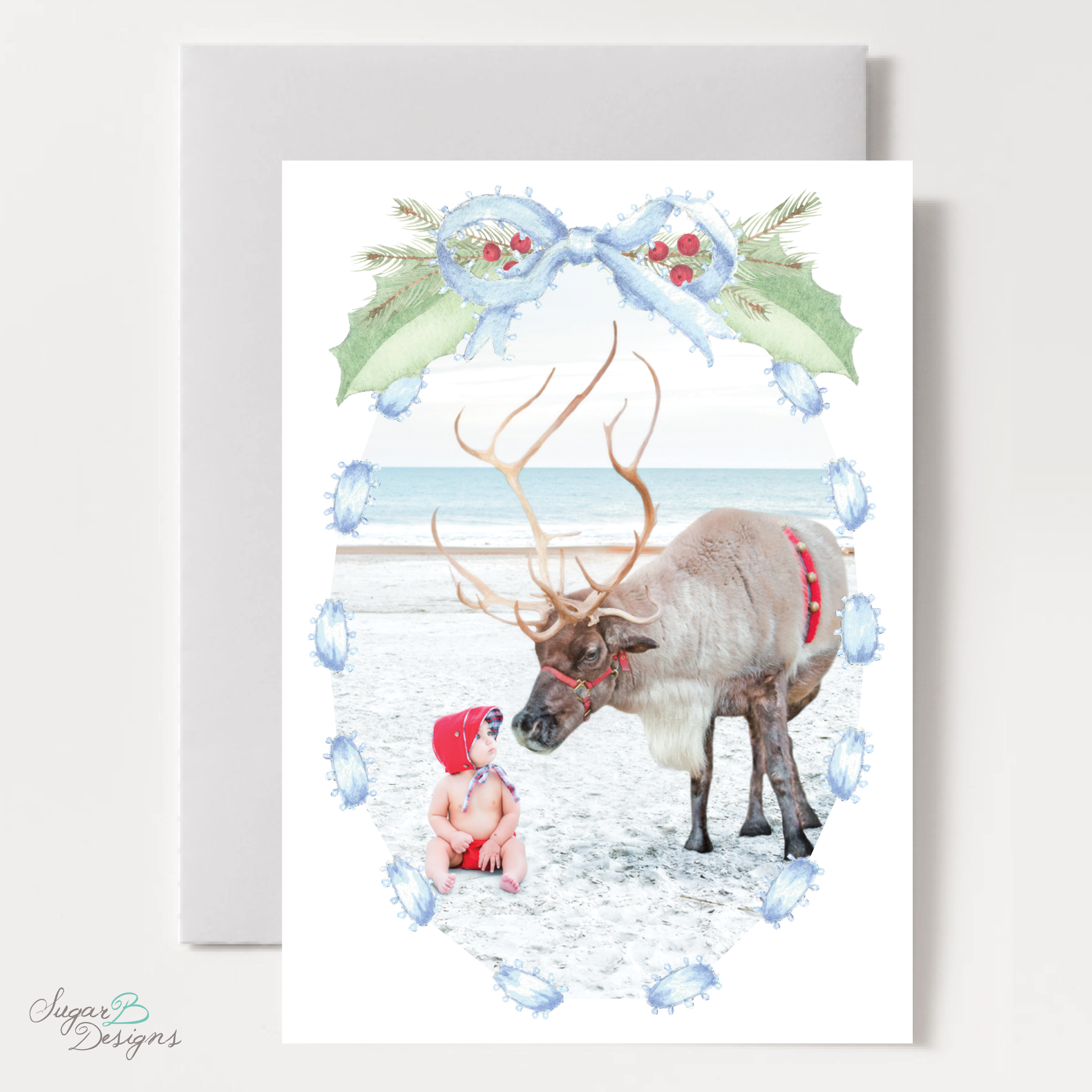 Collins Blue Christmas Card front by Sugar B Designs.png