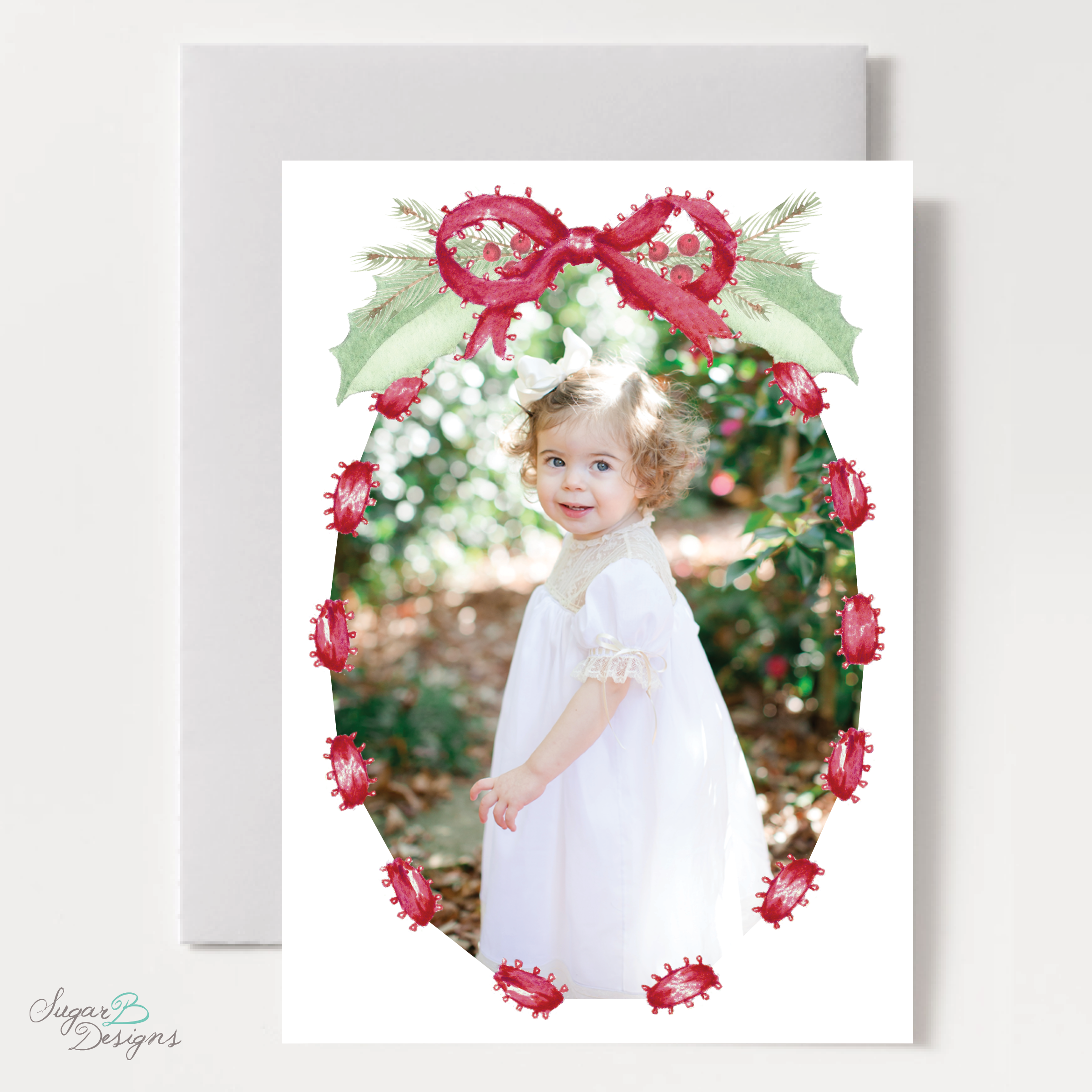 Collins Red Christmas Card front by Sugar B Designs.png