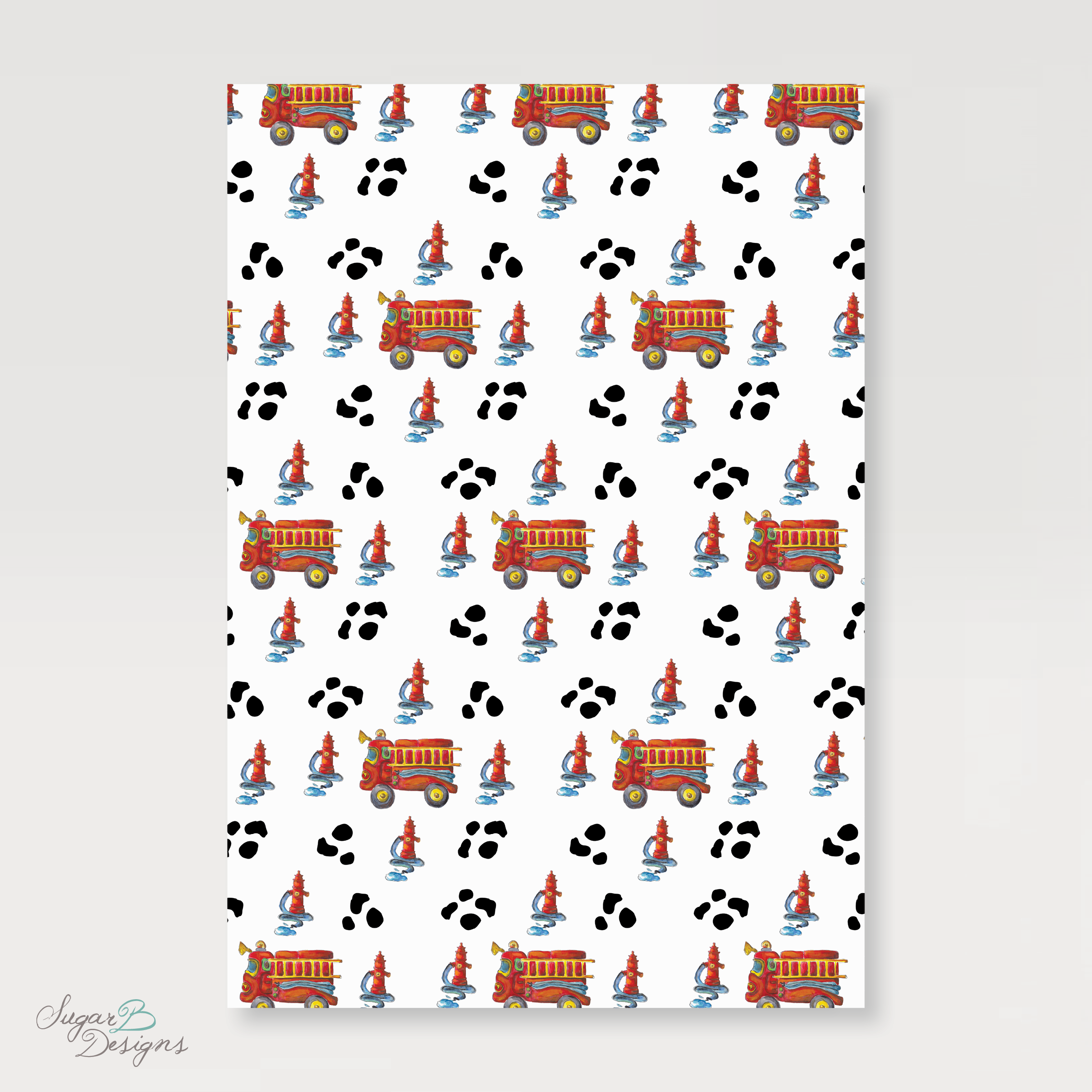 Firetruck Wrapping Paper