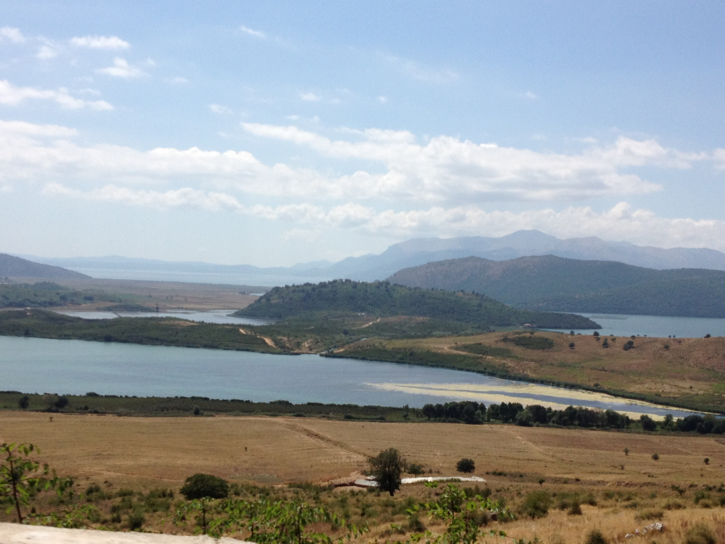 Approaching the site of Butrint from the east