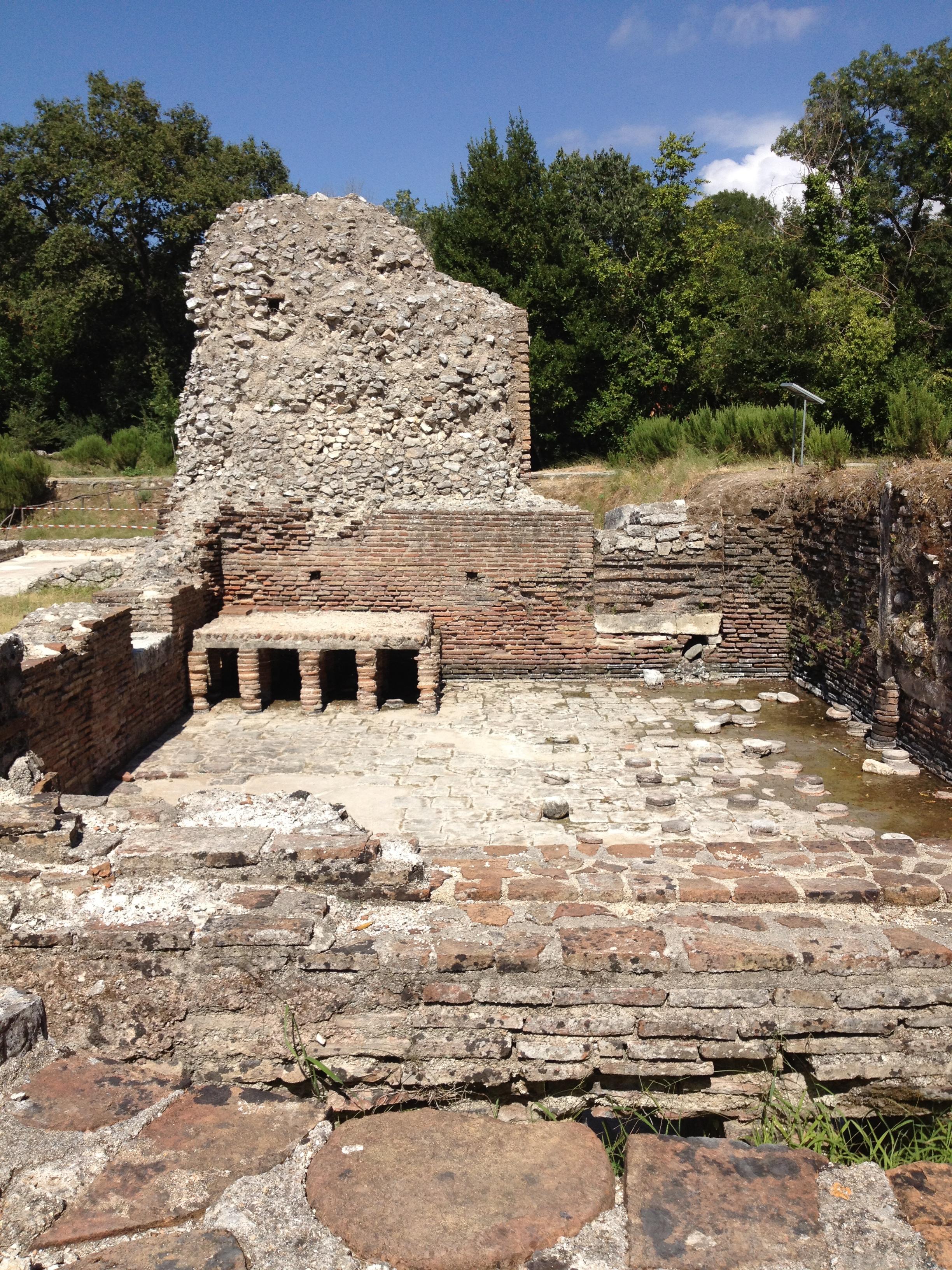Remains of the Roman bathhouse, Butrint, Albania