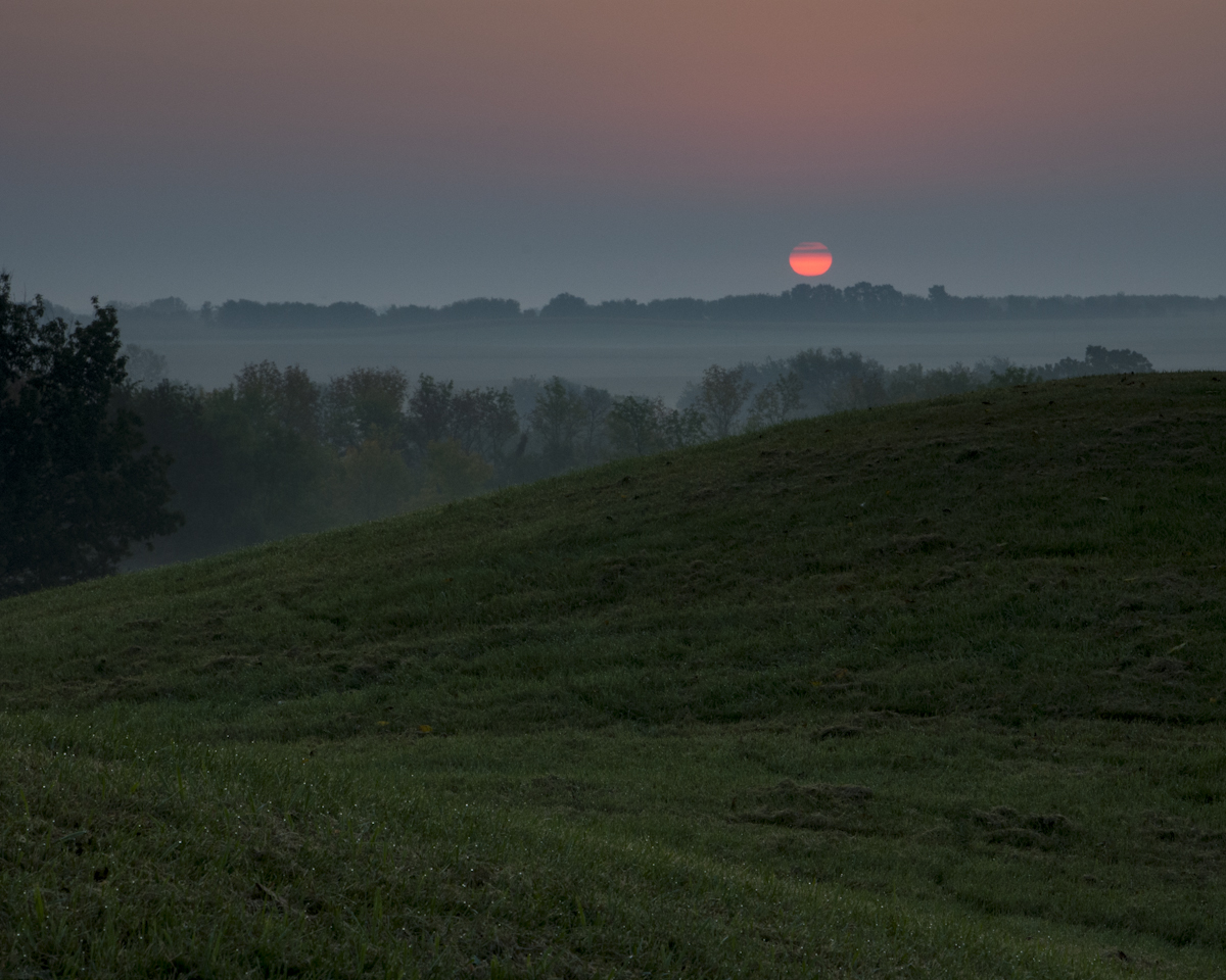 Sunrise from Marker Mounds