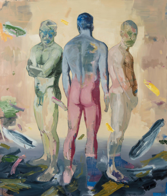 "Disgrace, Oil and Spray Paint on Canvas, 82"" x 70"" ( 178cm x 208.5cm ) 2018"