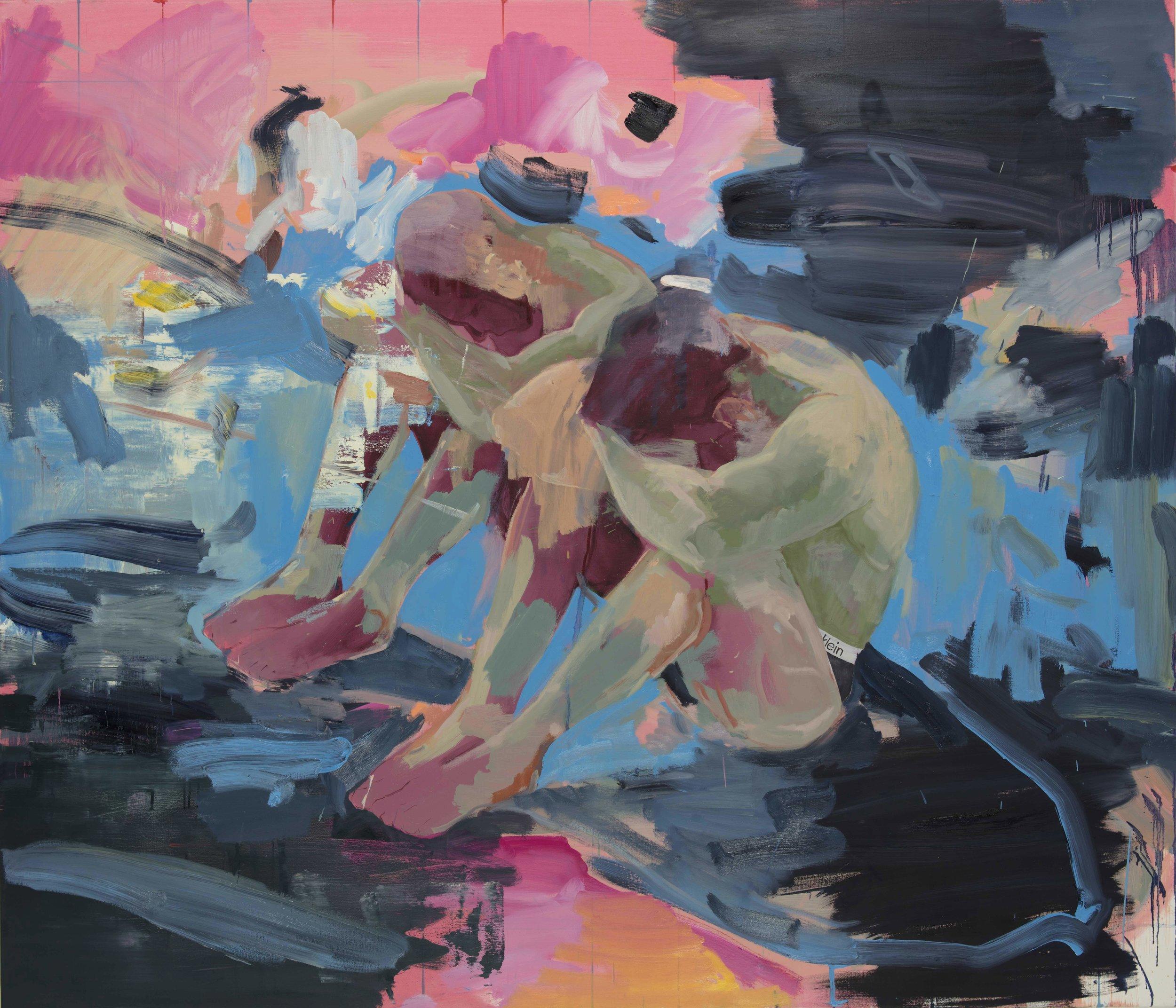 "Premeditated, Oil on Canvas, 60"" x 70"" ( 122cm x 154.5cm ) 2018"