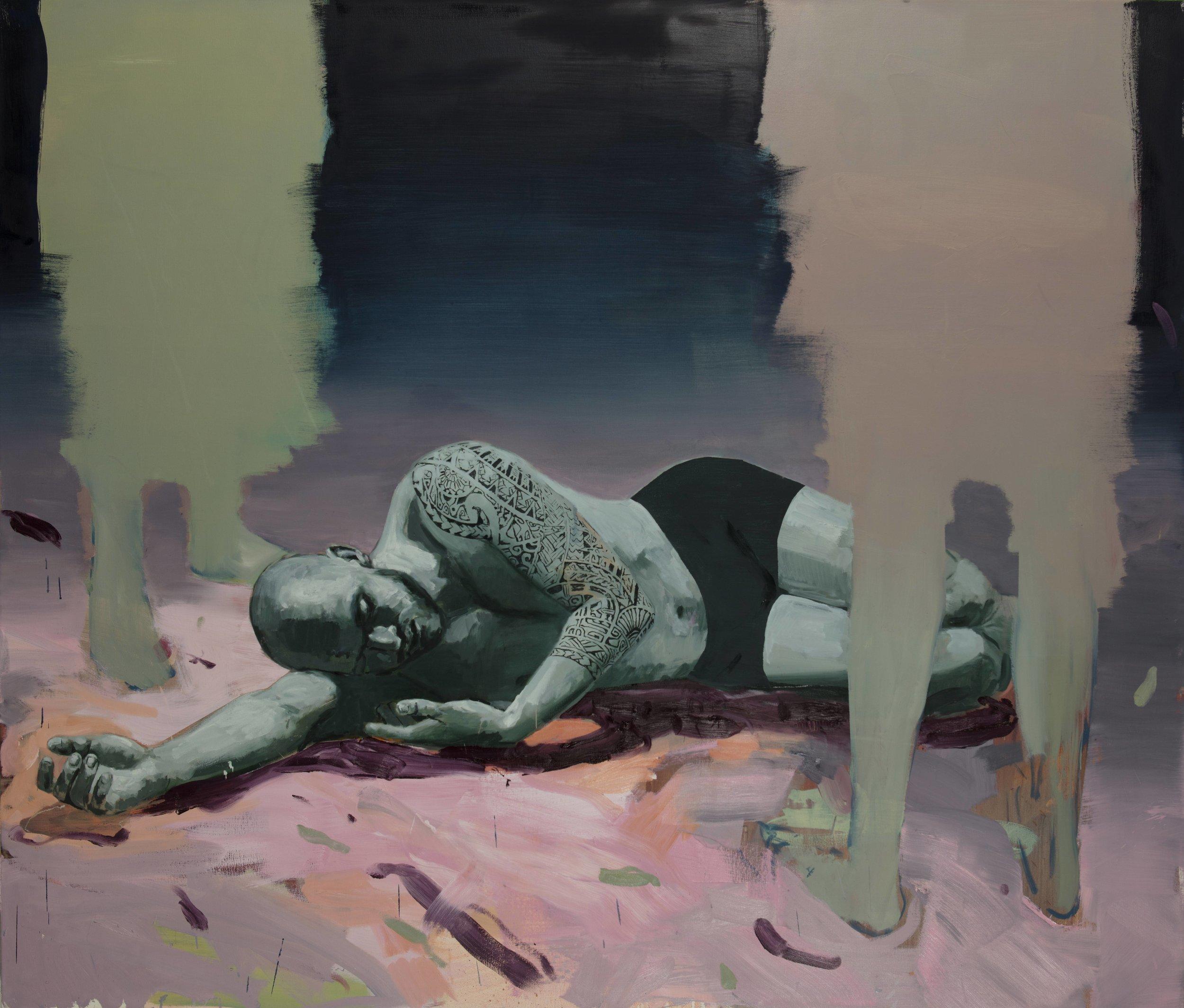 "The Idol, born to die, Oil on Canvas, 70"" x 82"" ( 208.5cm x 178cm ) 2018"