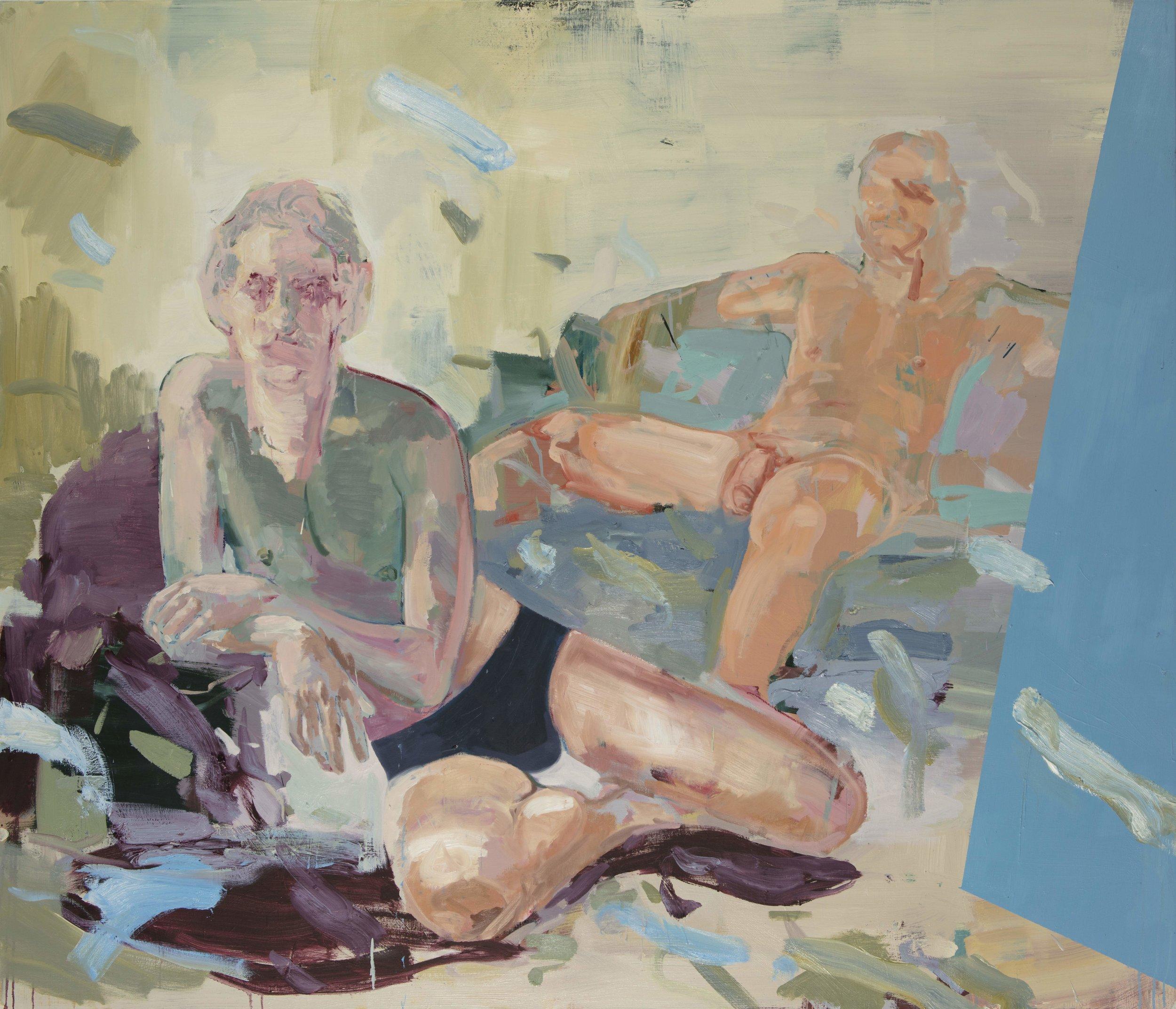 """The Boys, Oil on Canvas, 60"""" x 70"""" ( 122cm x 154.5cm ) 2018"""