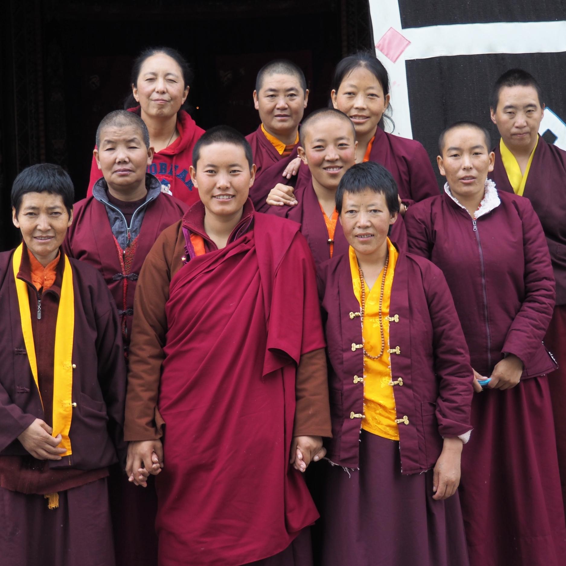 A few of the sixteen Tsogyal Nuns, June 2017