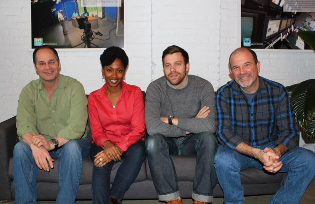 From L to R: BIT's Executive Producer, Greg Sutton; fellow producer Natasha Gaspard, who also had a segment nominated; me; and BIT's Associate Executive Producer, Jonathan Lief