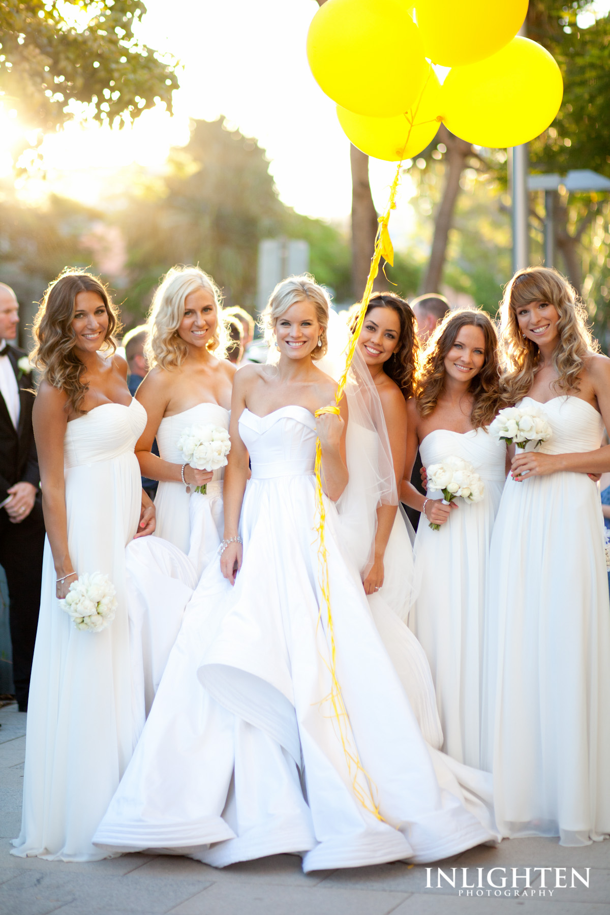 Sophie with her bridesmaids