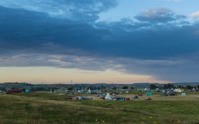 Dakota Access Pipeline protest at the Sacred Stone Camp near Cannon Ball, North Dakota. Photo by Tony Webster.