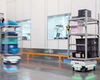 7 MiR100 robots are working 3 shifts a day at Visteon, Mexico,