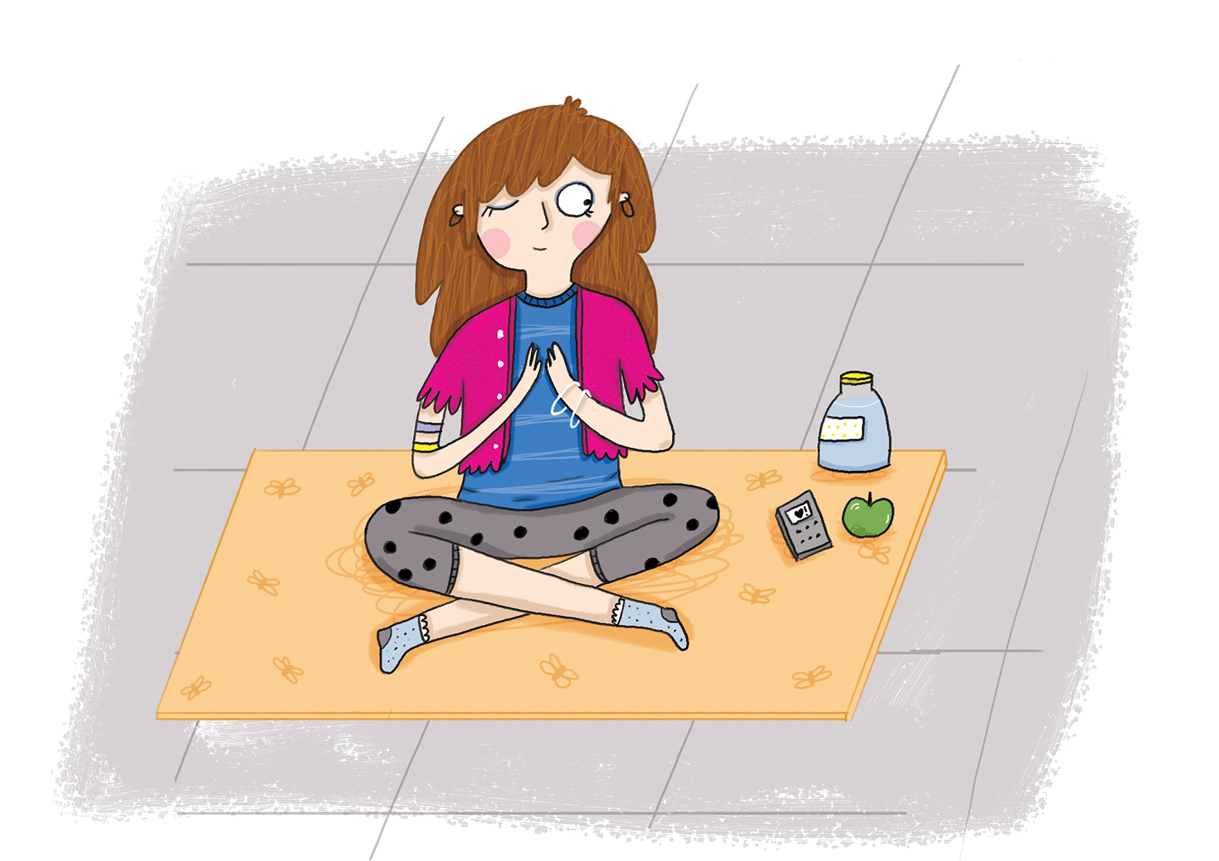 Yoga illustration LWD