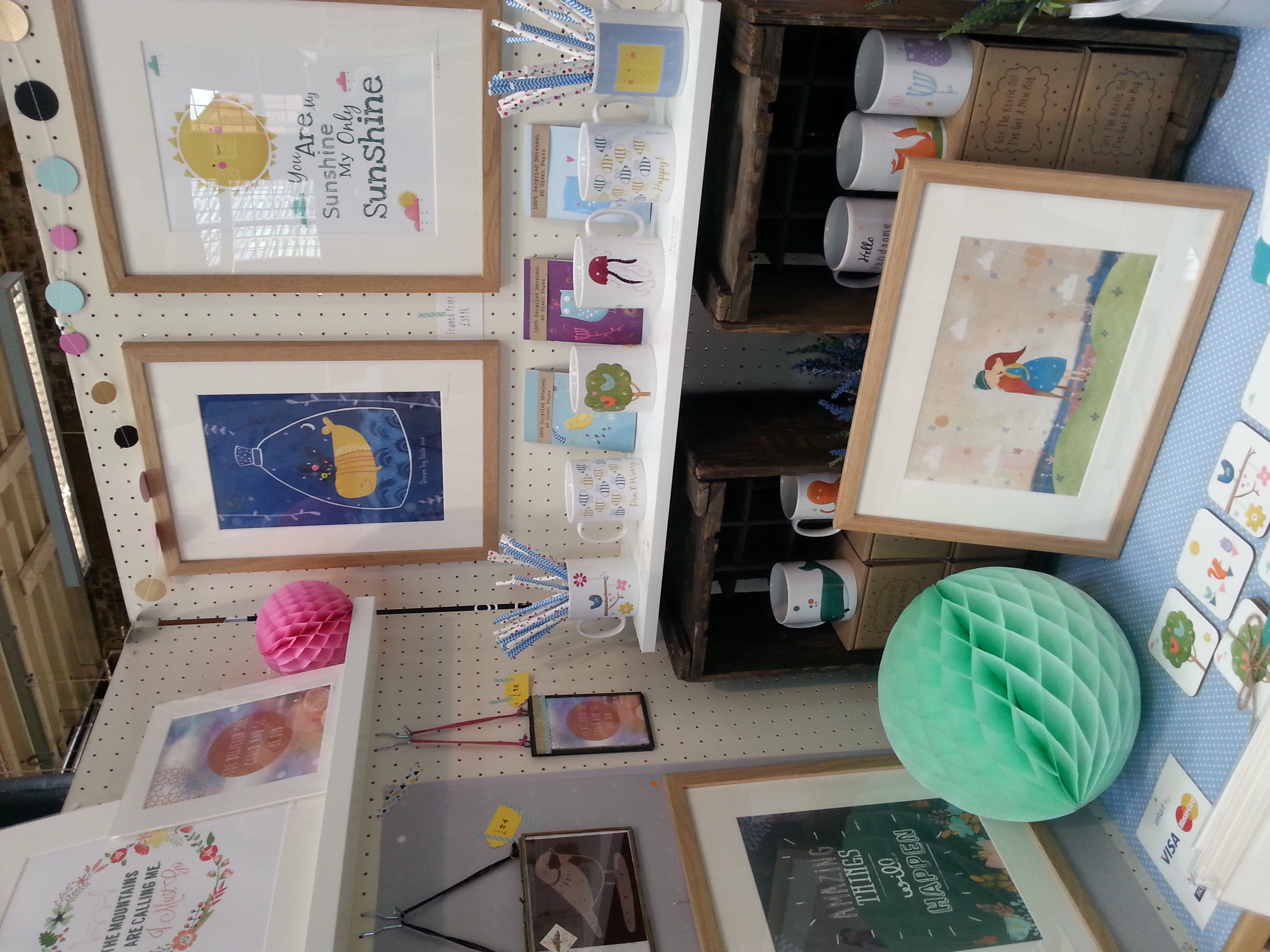 A part of one of my stands at a craft fair