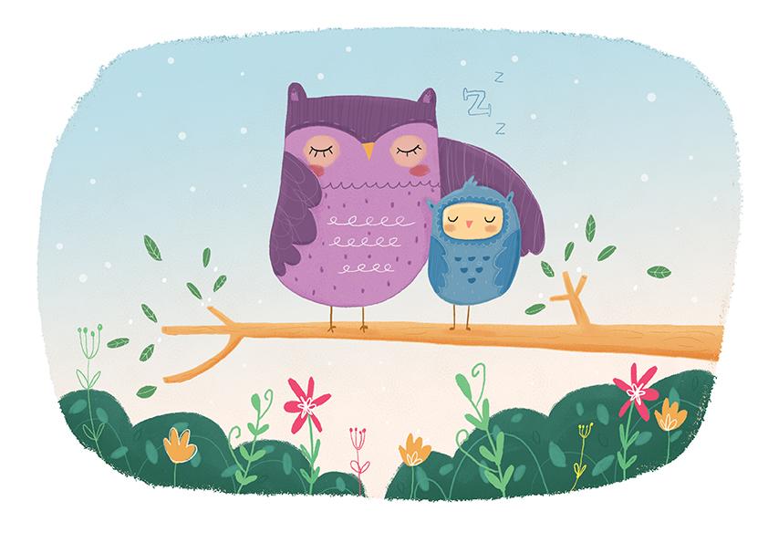 louise wright owl illustration
