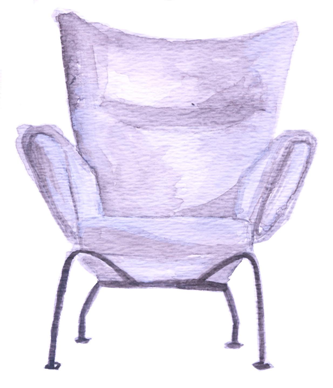 Wegner Wing Chair by Hans Wegner