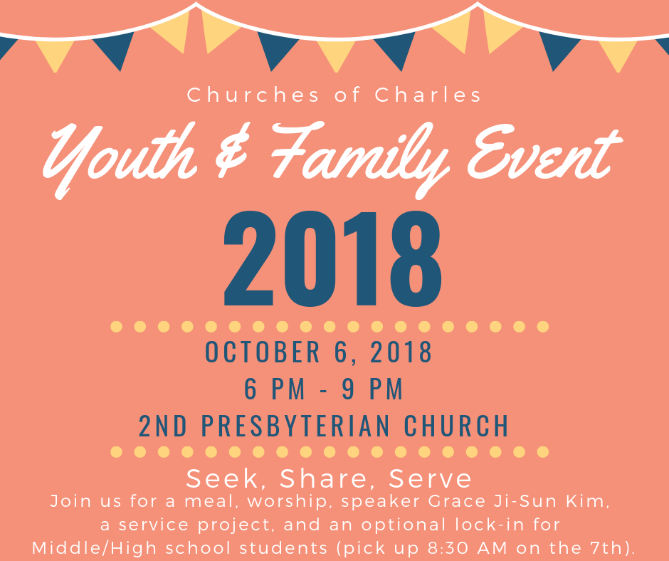 Keynote speaker Grace Ji-Sun is a minister, professor, and author of many books. She will discuss one of her recent works,  Mother Daughter Speak: Lessons on Life.  Please be sure to join us for this special family event and let us know that you're coming by registering at  https://secondpresby.org/youth-fest/ .