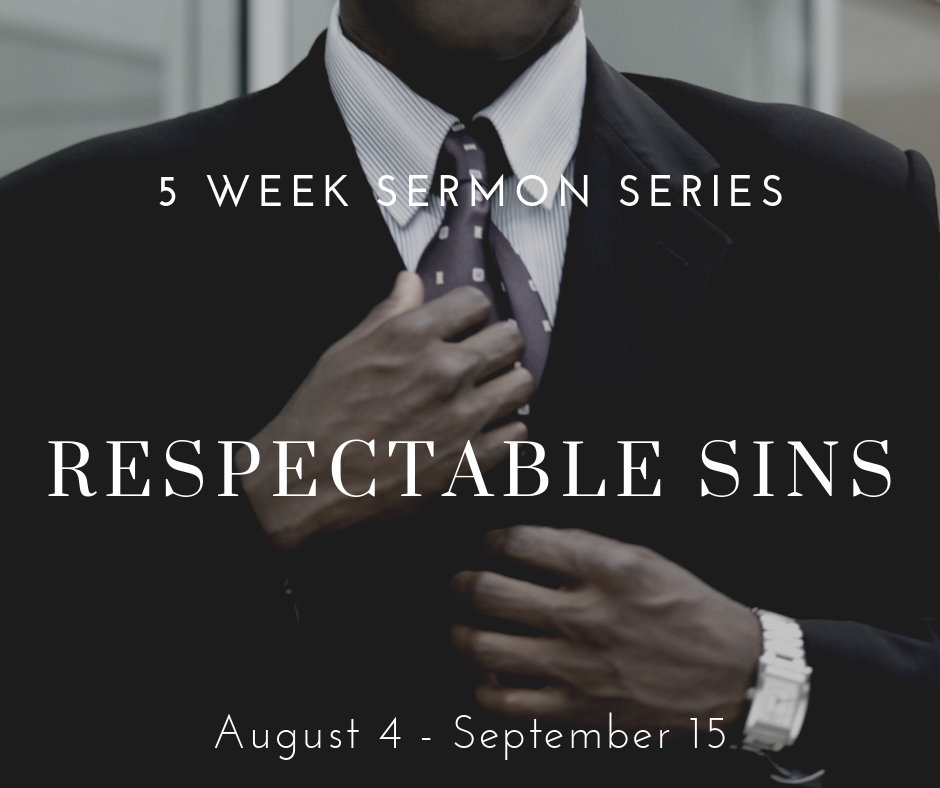 "There are certain things we do that we know are in opposition to what God wants for us, but we rationalize them as acceptable, even respectable. We've made them ""respectable sins."" And, part of the deal with ""respectable sins"" is that they often seem hidden – yet they are fully present. In fact, ""respectable sins"" actually thrive on not having notoriety, but they have a widespread practice. For these reasons, this series will focus on what some common ""respectable sins"" are in our day and on how we can find freedom from them."