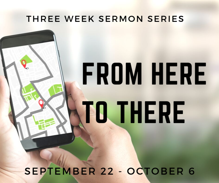 "This sermon series looks at the question: how do we go from ""here"" to there""? How do I start with my life right now (the person I am ""here"") and move to God's version of myself (the person I can be ""there"")? Also, as the church, how do we get from where we are right now (""here"") to realizing our full redemptive potential (""there"")?"